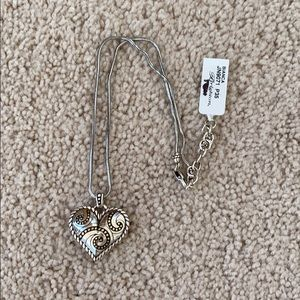 Brighton Bianca Reversible Heart Pendant Necklace